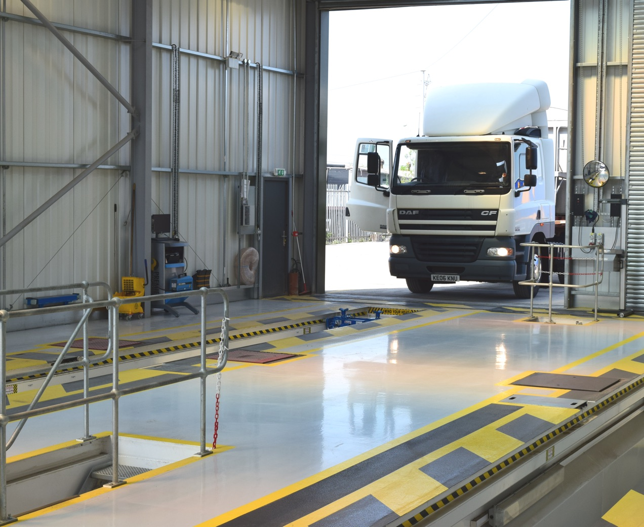 HGV Drive through MOT testing center