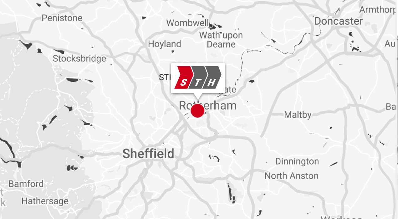 STH Rotherham Map